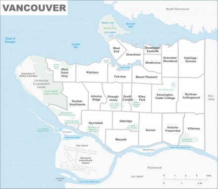 Vancouver neighbourhood map